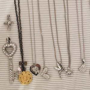 Jewelry - Dainty and chunky silver charm Necklaces & jewelry